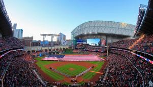 Minute Maid Park with its roof open - PHOTO CREDIT - Houston Sports Authority