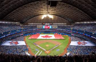 Rogers Centre with its roof closed - PHOTO CREDIT - Experience Transat