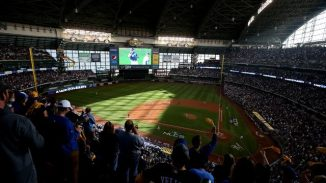 Miller Park with its roof closed - PHOTO CREDIT - Dylan Buell, Getty Images