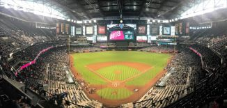 Chase Field with its roof and windows closed - PHOTO CREDIT - Stadium Journey