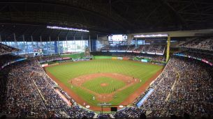 Marlins Park with the roof closed - PHOTO CREDIT - Sun Sentinel