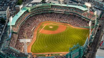 An overhead view of Fenway Park - PHOTO CREDIT - Billie Weiss, Boston Red Sox