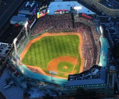 An overhead view of Fenway Park - PHOTO CREDIT - Boston Red Sox